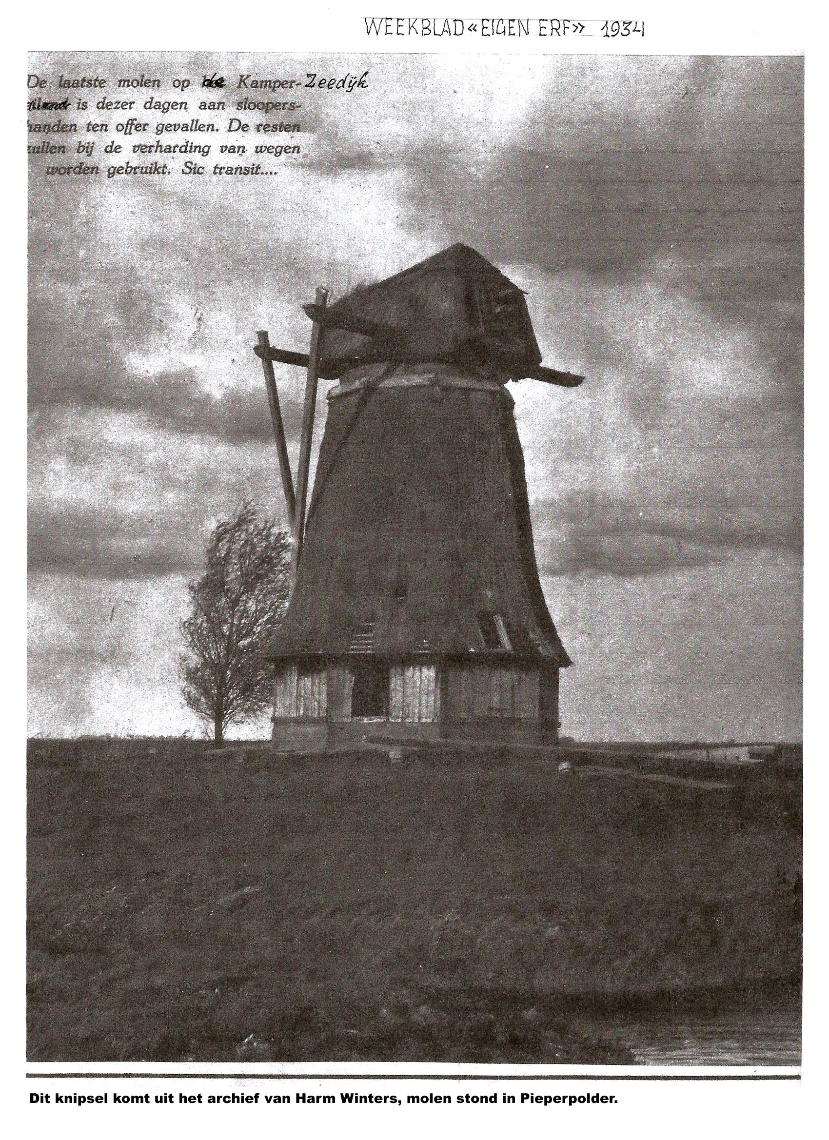Ons-1934-knipsel-molen-op-de-Piepert